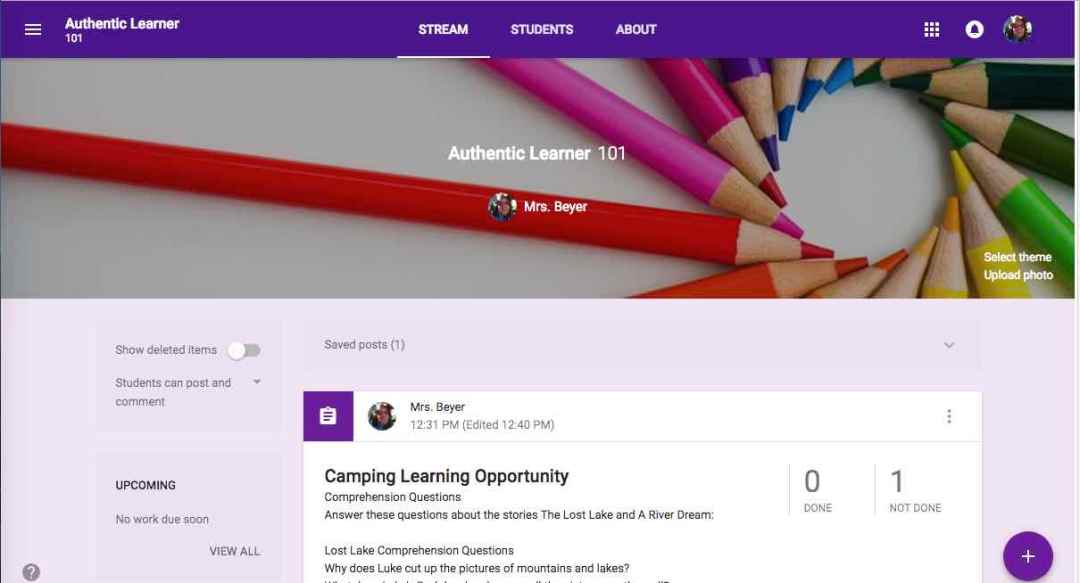 Google Classroom https://mailchi.mp/c8304131d6a6/authenticlearner101